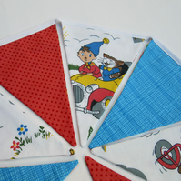 Bunting with Vintage Storybook Fabric - Reversible to Zoo Prints