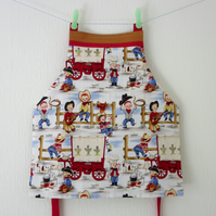Reversible Childs Apron with Pocket - Cowboy Cookout and Rodeo Kid