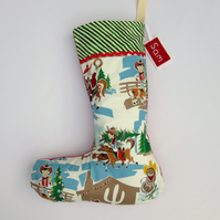 Christmas Stocking - Retro Christmas Cowboy Santa