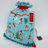 Personalised Santa Sack - Santa's Elves Christmas Present Sack