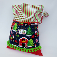 Sale - Christmas Present Sack for Toddlers - Santa on the Farm