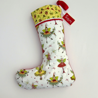 Personalised Christmas Stocking - Fairy
