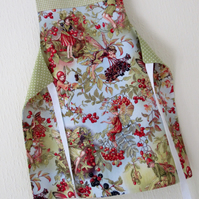 Sale - Girls Apron - Reversible Princesses and Fairies