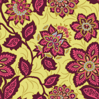 Cotton Fabric - Joel Dewberry Heirloom - Ornate Floral in Garnet - metres