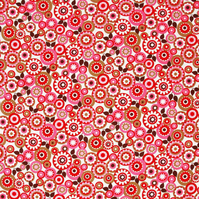 Cotton Fabric - Timeless Treasure - Contemporary - Red Flowers 1.5 metres