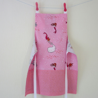 Reversible Apron - Pink Mermaids and Pirate Girls