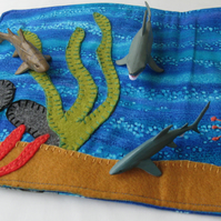 Shark Travel Play Mat - Under the Sea Play On The Go Play Scene