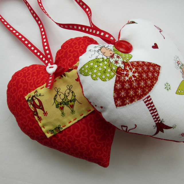 Fairy Heart - Hanging Christmas Decorations - Reversible