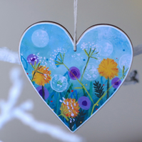 Floral Heart Hanging Decoration for Valentine's, Mother's Day and Easter