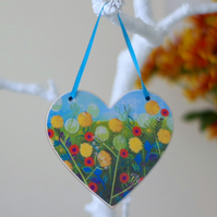 Dandelions Hanging Decoration, Summer Spring Hanging Heart