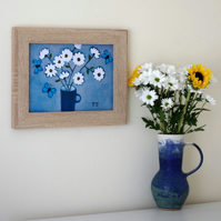 One Off Floral Art Print After Original Daisy Painting