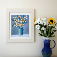 One Off Floral Art Print after Original Still Life Painting with Flowers