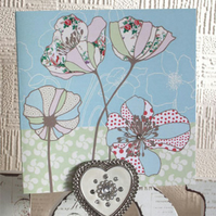 Vintage Poppies Card