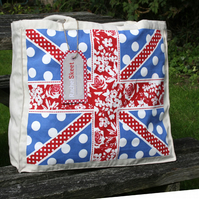 Natural Canvas Union Jack Shopper Bag