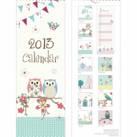 SALE! Hand Illustrated 2013 Slimline Calendar