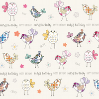 Little Birdies Birthday Card