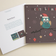 SALE! Merry Christmas Owl Card