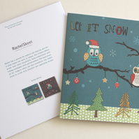 SALE! 'Let it Snow' Christmas Owl Card