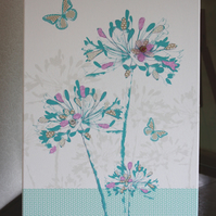 Vintage Lily and Butterfly Canvas