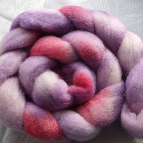 Loganberry Corriedale Wool Roving Corriedale Wool Sliver