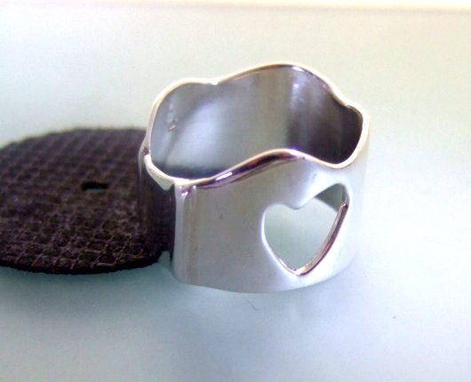 Heart Love Ring Sterling Silver