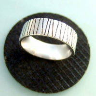 Oxidised UNISEX silver ring