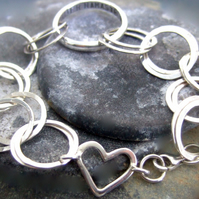 21 hoop celebration bracelet with love
