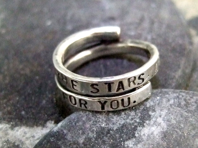LOOK AT THE STARS Lyric ring