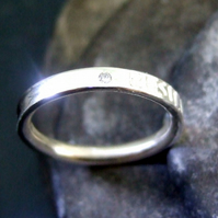 Personalised stone set ring