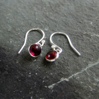 Garnet droplet earrings