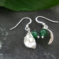 Leaf design earrings with green aventurine