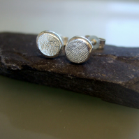 Studs, silver studs, silver stud earrings, textured studs 8mm simplistic range