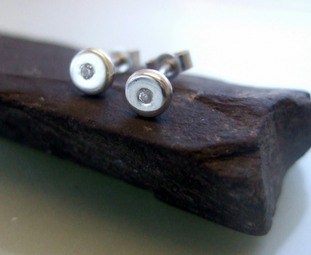 Silver, studs, silver stud earrings, silver pebble stud earrings