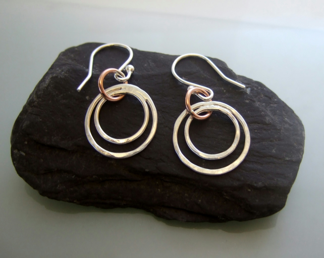Silver Copper earrings