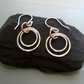 Silver Copper earrings ARC Jewellery