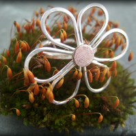 Daisy silver copper ring