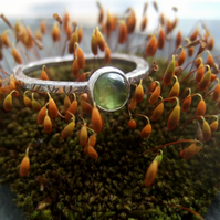 Peridot Leaf textured ring