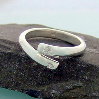 Stone set silver ring