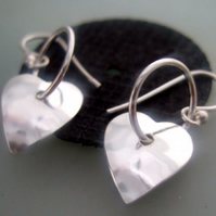 Heart & hoop earrings Wedding jewellery