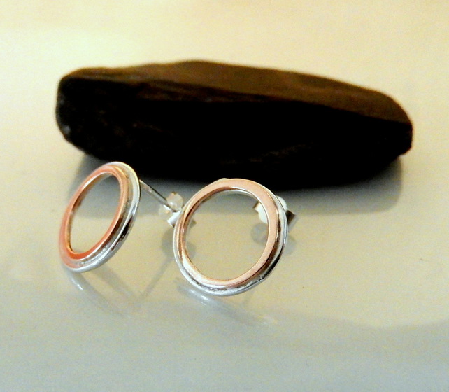 Sunglow Stud hoop earrings