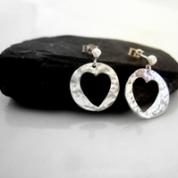 Sterling silver heart earrings