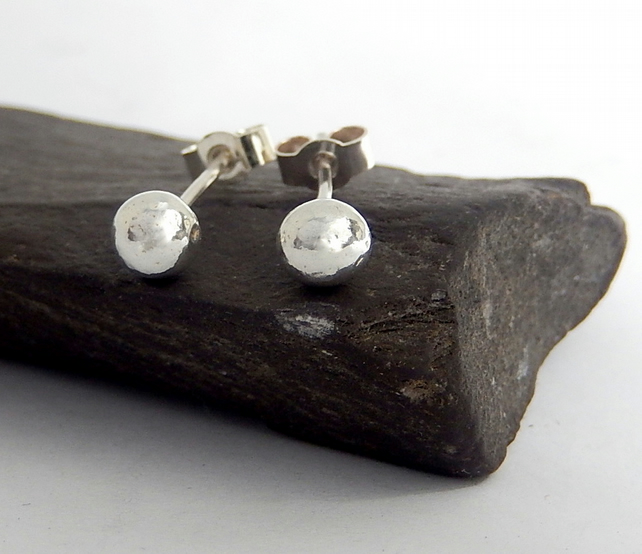 Silver, silver stud earrings, recycled silve rearrings