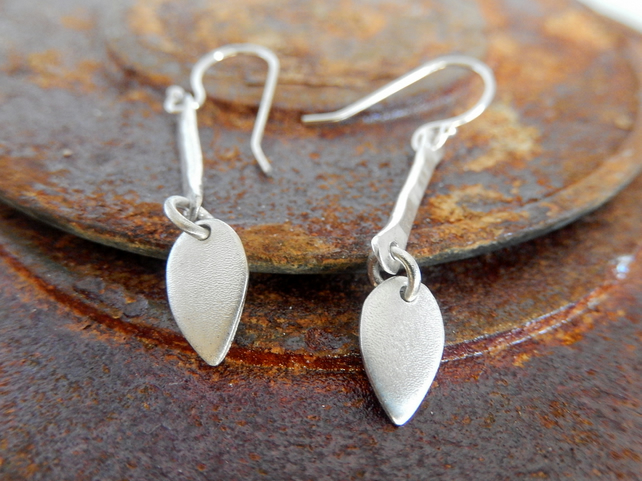 Silver earrings, silver dangle earrings