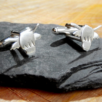 Highland cow sterling silver cuff links