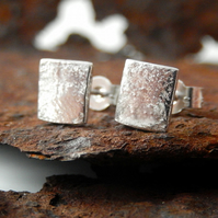 Silver, silver stud earrings