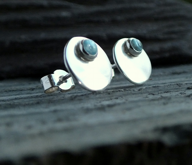 studs, silver stud earrings, silver topaz stud earring, silver earrings