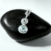 Pebble blue topaz pendant