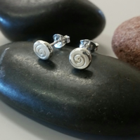 Studs, silver studs, silver stud earrings, spiral design studs sterling silver