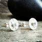 Studs, silver stud earrings, silver topaz stud earrings