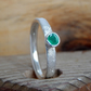Natural Emerald textured ring
